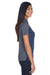 Core 365 CE101W Womens Balance Performance Moisture Wicking Short Sleeve Polo Shirt Navy Blue/Grey Side