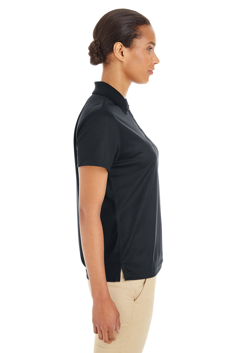 Core 365 CE102W Womens Express Performance Moisture Wicking Short Sleeve Polo Shirt Black Side