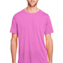 Core 365 Mens Fusion ChromaSoft Performance Moisture Wicking Short Sleeve Crewneck T-Shirt - Charity Pink