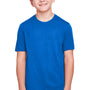Core 365 Youth Fusion ChromaSoft Performance Moisture Wicking Short Sleeve Crewneck T-Shirt - True Royal Blue