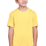 Core 365 Youth Fusion ChromaSoft Performance Moisture Wicking Short Sleeve Crewneck T-Shirt - Campus Gold