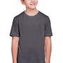 Core 365 Youth Fusion ChromaSoft Performance Moisture Wicking Short Sleeve Crewneck T-Shirt - Carbon Grey