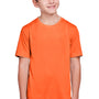 Core 365 Youth Fusion ChromaSoft Performance Moisture Wicking Short Sleeve Crewneck T-Shirt - Campus Orange