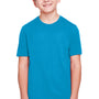 Core 365 Youth Fusion ChromaSoft Performance Moisture Wicking Short Sleeve Crewneck T-Shirt - Electric Blue