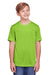 Core 365 CE111Y Youth Fusion ChromaSoft Performance Moisture Wicking Short Sleeve Crewneck T-Shirt Acid Green Front