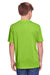 Core 365 CE111Y Youth Fusion ChromaSoft Performance Moisture Wicking Short Sleeve Crewneck T-Shirt Acid Green Back