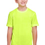 Core 365 Youth Fusion ChromaSoft Performance Moisture Wicking Short Sleeve Crewneck T-Shirt - Safety Yellow