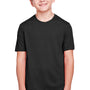 Core 365 Youth Fusion ChromaSoft Performance Moisture Wicking Short Sleeve Crewneck T-Shirt - Black