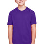 Core 365 Youth Fusion ChromaSoft Performance Moisture Wicking Short Sleeve Crewneck T-Shirt - Campus Purple