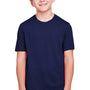 Core 365 Youth Fusion ChromaSoft Performance Moisture Wicking Short Sleeve Crewneck T-Shirt - Classic Navy Blue