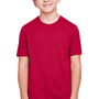 Core 365 Youth Fusion ChromaSoft Performance Moisture Wicking Short Sleeve Crewneck T-Shirt - Classic Red