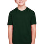 Core 365 Youth Fusion ChromaSoft Performance Moisture Wicking Short Sleeve Crewneck T-Shirt - Forest Green