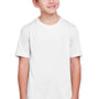Core 365 Youth Fusion ChromaSoft Performance Moisture Wicking Short Sleeve Crewneck T-Shirt - White