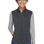 Core 365 Womens Cruise Water Resistant Full Zip Fleece Vest - Carbon Grey