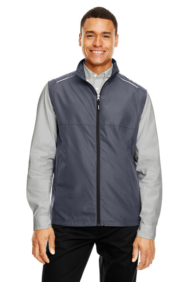 Core 365 CE703 Mens Techno Lite Water Resistant Full Zip Vest Carbon Grey Front