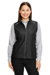 Core 365 CE703W Womens Techno Lite Water Resistant Full Zip Vest Black Front