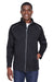 Core 365 CE708 Mens Techno Lite Water Resistant Full Zip Jacket Black Front