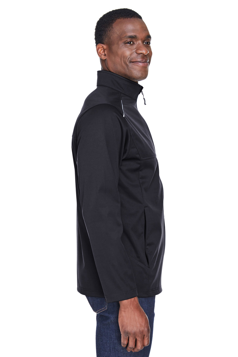 Core 365 CE708 Mens Techno Lite Water Resistant Full Zip Jacket Black Side