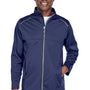 Core 365 Mens Techno Lite Water Resistant Full Zip Jacket - Classic Navy Blue