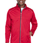 Core 365 Mens Techno Lite Water Resistant Full Zip Jacket - Classic Red