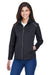 Core 365 CE708W Womens Techno Lite Water Resistant Full Zip Jacket Black Front