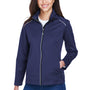 Core 365 Womens Techno Lite Water Resistant Full Zip Jacket - Classic Navy Blue
