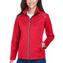 Core 365 Womens Techno Lite Water Resistant Full Zip Jacket - Classic Red