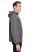 Champion CO200 Mens Packable Anorak 1/4 Zip Hooded Jacket Graphite Grey Side