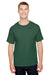 Champion CP10 Mens Short Sleeve Crewneck T-Shirt Dark Green Front