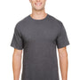 Champion Mens Short Sleeve Crewneck T-Shirt - Heather Charcoal Grey