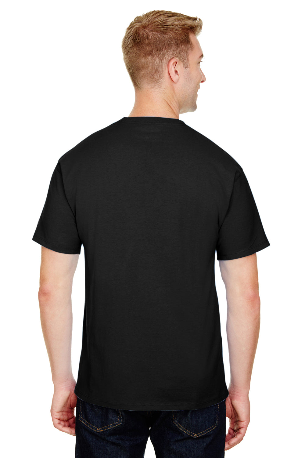 Champion CP10 Mens Short Sleeve Crewneck T-Shirt Black Back