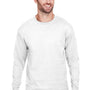 Champion Mens Long Sleeve Crewneck T-Shirt - White