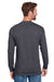 Champion CP15 Mens Long Sleeve Crewneck T-Shirt Heather Charcoal Grey Back