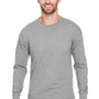 Champion Mens Long Sleeve Crewneck T-Shirt - Oxford Grey