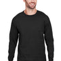 Champion Mens Long Sleeve Crewneck T-Shirt - Black