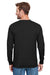 Champion CP15 Mens Long Sleeve Crewneck T-Shirt Black Back