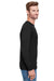 Champion CP15 Mens Long Sleeve Crewneck T-Shirt Black Side