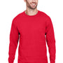 Champion Mens Long Sleeve Crewneck T-Shirt - Athletic Red