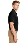 CornerStone CS4020 Mens Industrial Moisture Wicking Short Sleeve Polo Shirt Black Side