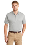 CornerStone CS4020 Mens Industrial Moisture Wicking Short Sleeve Polo Shirt Light Grey Front