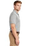 CornerStone CS4020 Mens Industrial Moisture Wicking Short Sleeve Polo Shirt Light Grey Side