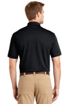 CornerStone CS4020 Mens Industrial Moisture Wicking Short Sleeve Polo Shirt Navy Blue Back