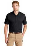 CornerStone CS4020 Mens Industrial Moisture Wicking Short Sleeve Polo Shirt Navy Blue Front