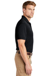 CornerStone CS4020 Mens Industrial Moisture Wicking Short Sleeve Polo Shirt Navy Blue Side