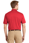 CornerStone CS4020 Mens Industrial Moisture Wicking Short Sleeve Polo Shirt Red Back