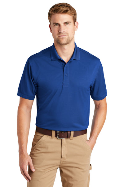 CornerStone CS4020 Mens Industrial Moisture Wicking Short Sleeve Polo Shirt Royal Blue Front