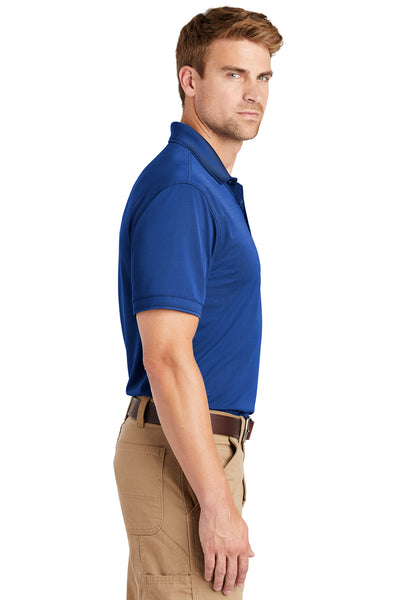 CornerStone CS4020 Mens Industrial Moisture Wicking Short Sleeve Polo Shirt Royal Blue Side