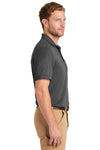 CornerStone CS4020P Mens Industrial Moisture Wicking Short Sleeve Polo Shirt w/ Pocket Charcoal Grey Side