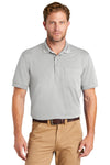 CornerStone CS4020P Mens Industrial Moisture Wicking Short Sleeve Polo Shirt w/ Pocket Light Grey Front