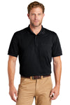 CornerStone CS4020P Mens Industrial Moisture Wicking Short Sleeve Polo Shirt w/ Pocket Navy Blue Front